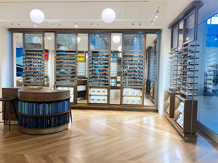 Warby Parker SouthPark glasses wall