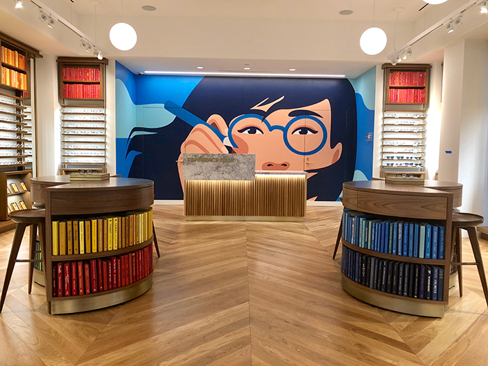 Warby Parker SouthPark mural