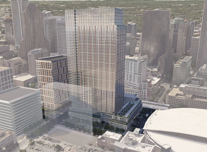 new uptown towers at bus center