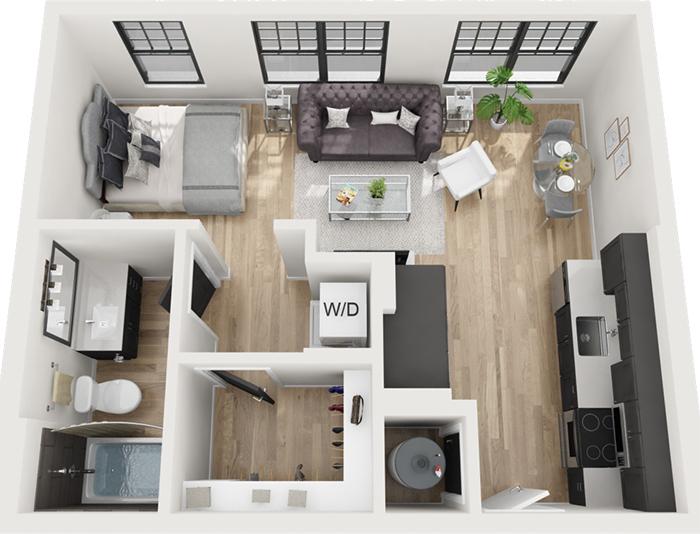 one bedroom apartment layout novel atherton