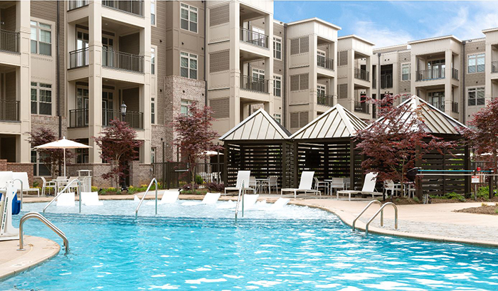 providence row apartment pool in charlotte