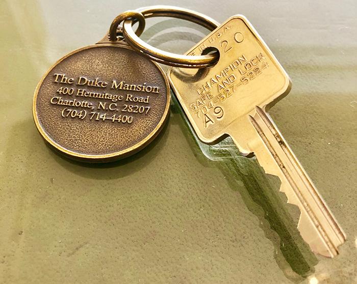 room key at duke mansion charlotte