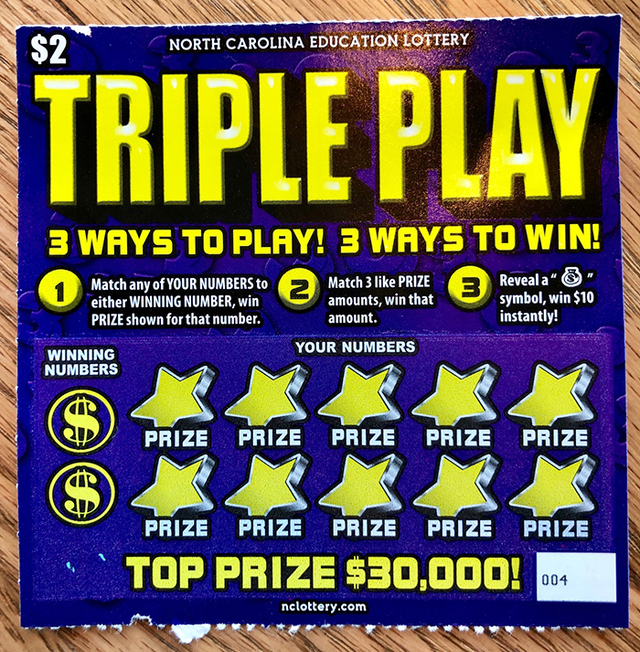 scratch off lottery ticket in charlotte