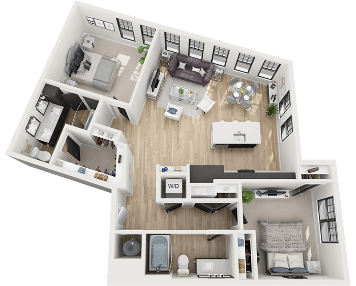 two bedroom layout novel atherton apartments