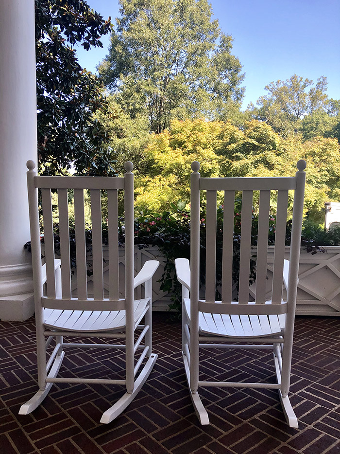 Duke Mansion Home Tour rocking chair