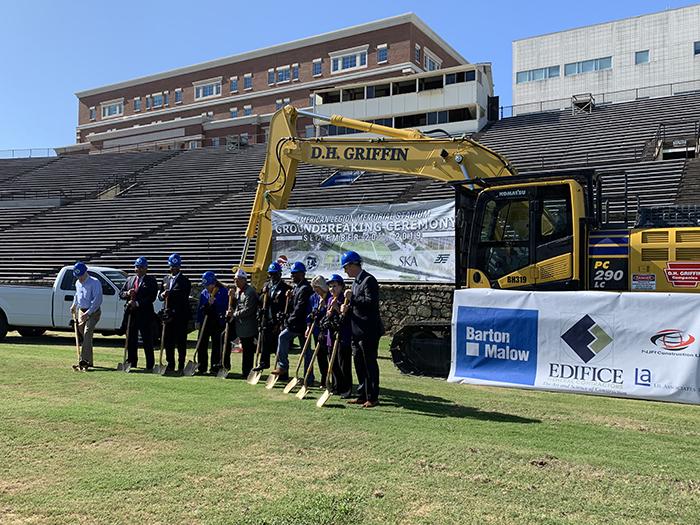 Groundbreaking at American Legion Memorial Stadium