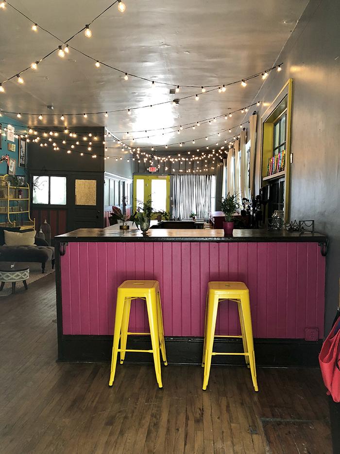 Rosie's Wine Garden side bar