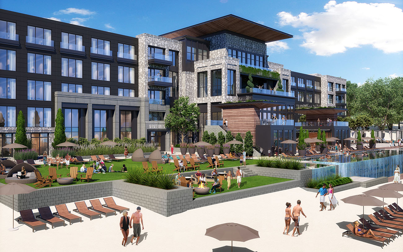 Get ready for Lake Norman's first lakefront hotel, an 82-room luxury waterfront resort with a spa and private beach