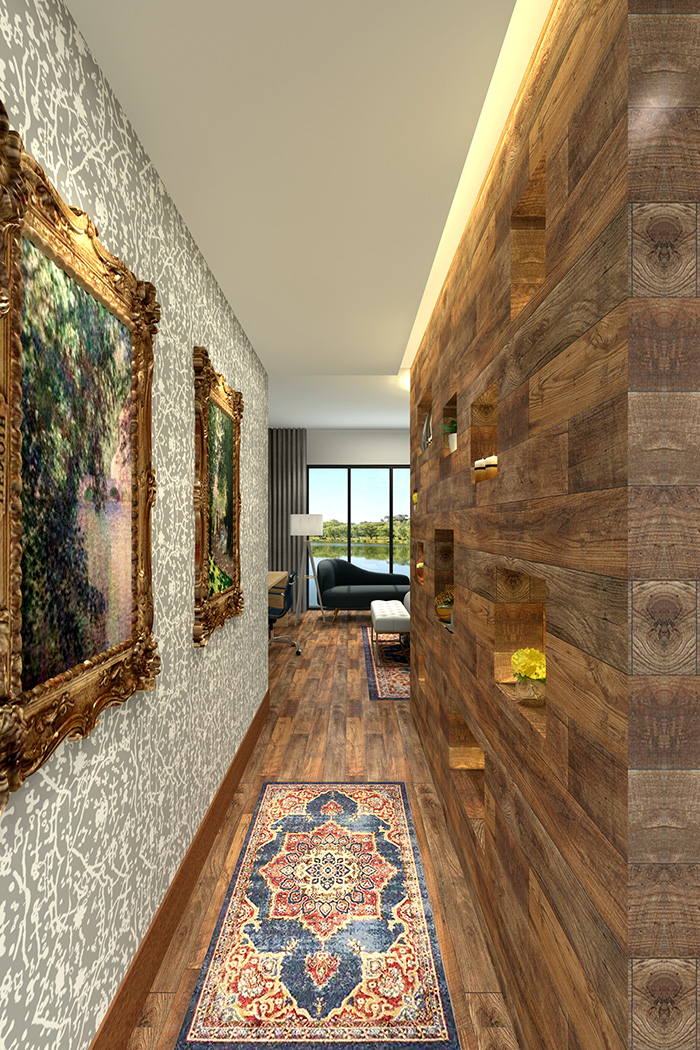 Sunset Cove rendering hallway