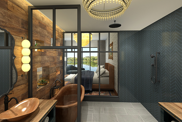 Sunset Cove room rendering
