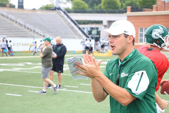 UNC Charlotte football coach Will Healy