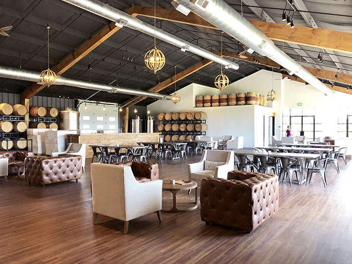 Veronet Vineyards and Winery main winery space