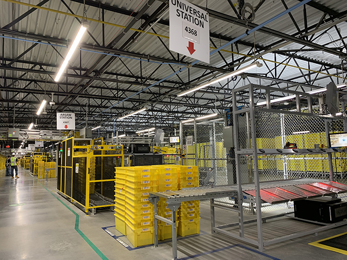 Amazon robotics fulfillment center on Tuckaseegee Road