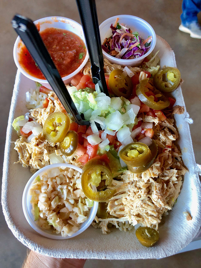 burrito bowl at taco mama in charlotte