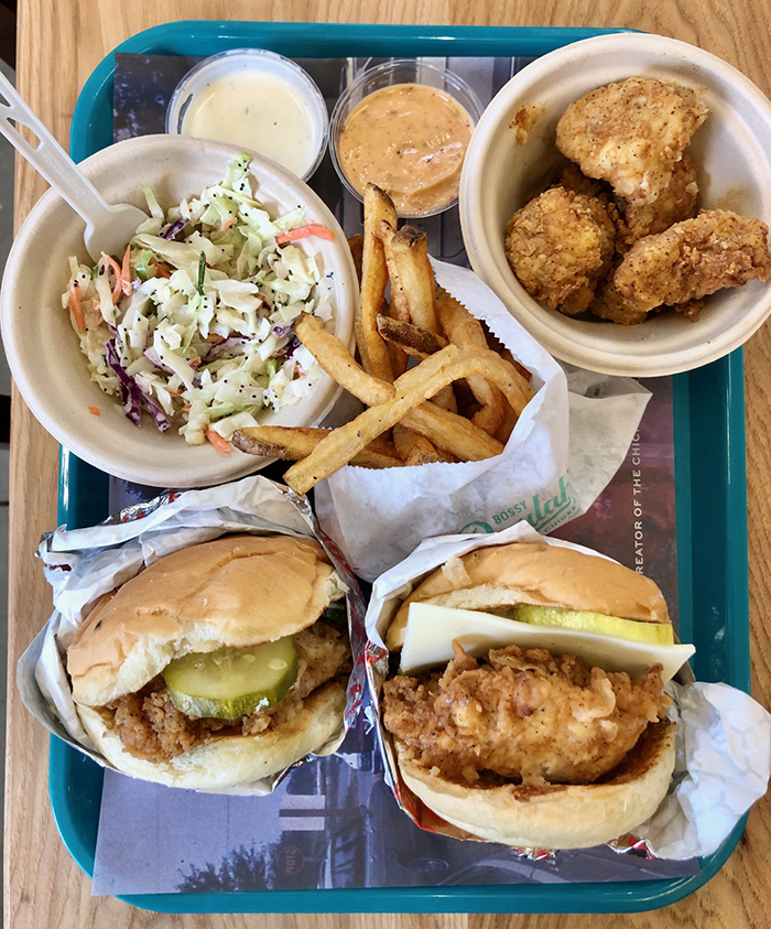 food at bossy beaulahs chicken shack in charlotte