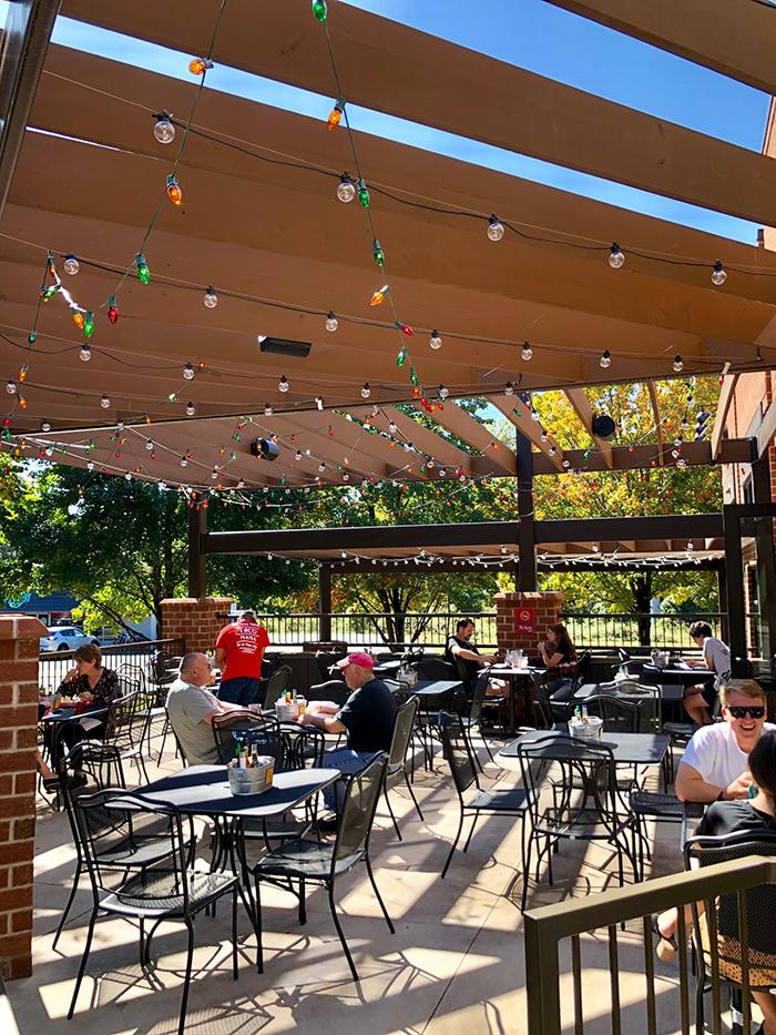 patio at taco mama charlotte