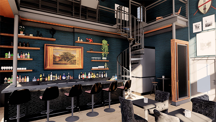 Elsewhere cocktail bar south end bar