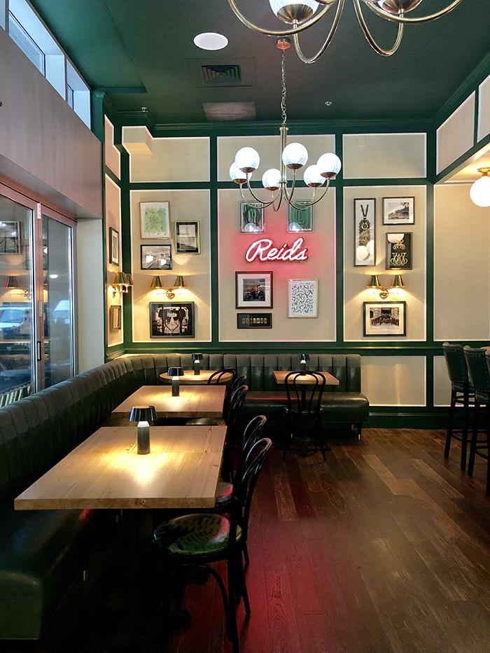 Reid's Fine Foods indoor seating area