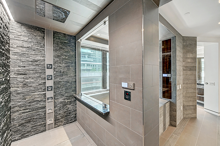 The Trust uptown's most expensive condo master shower