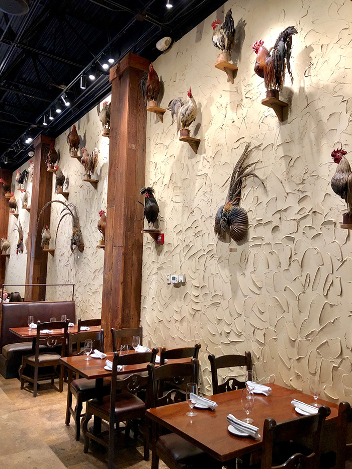 dining at roosters restaurant in charlotte
