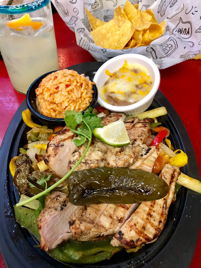 fajitas at pacos tacos in southpark charlotte