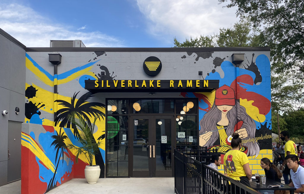 "LA-based Silverlake Ramen opens this week in South End. Try its spicy ramen called ""The Blaze"""