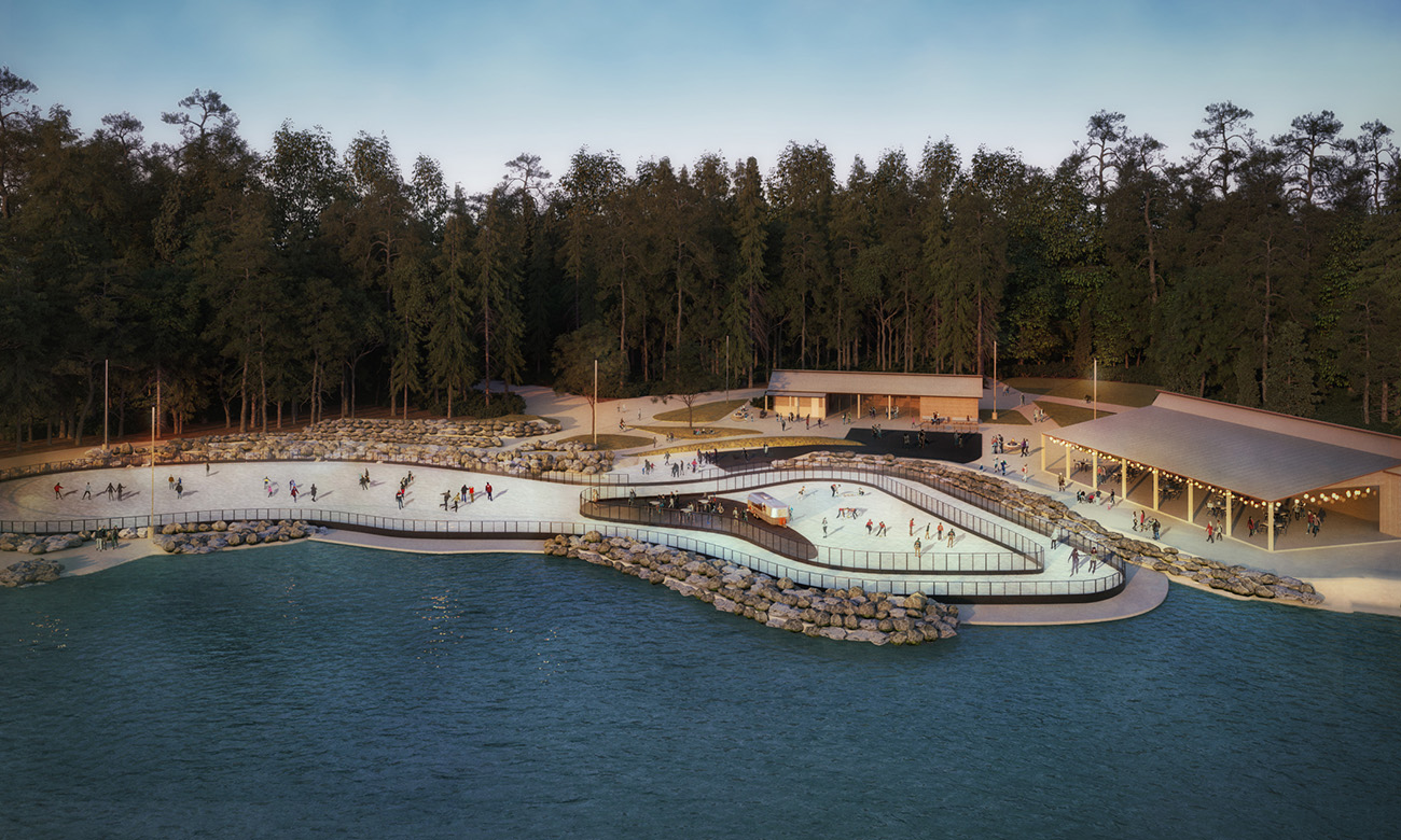 """Ice skating coming to Whitewater Center — will include """"skate-up"""" bar serving craft beer and hot chocolate"""