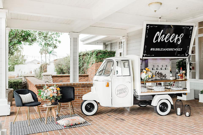 Bubble and Brews mobile bar event set up