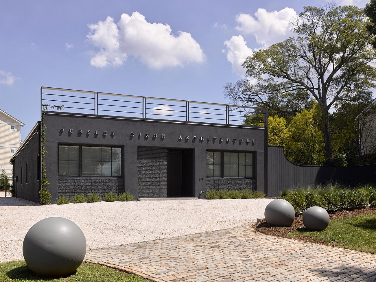 Office Cribs: Architects Ken Pursley and Craig Dixon transform 'simple, dumb box' into their modern, dream office