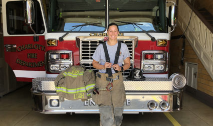 How I work: 22 quick questions with firefighter Amanda Leigh of NoDa's Station 7