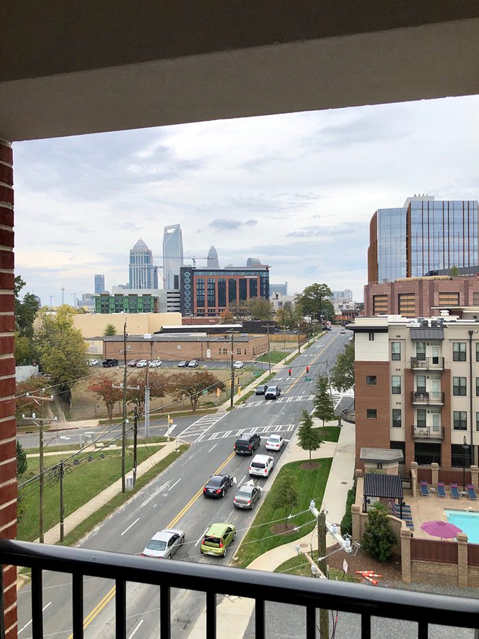 balcony on suite at holiday inn express in south end