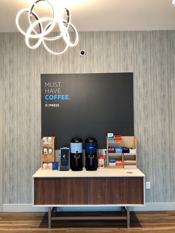 coffee at holiday inn express south end charlotte
