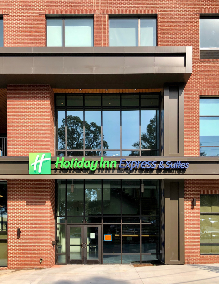 entance of holiday inn express in south end