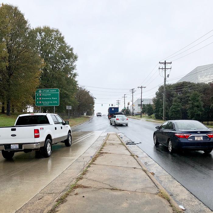 lanes merging on exit in noda charlotte