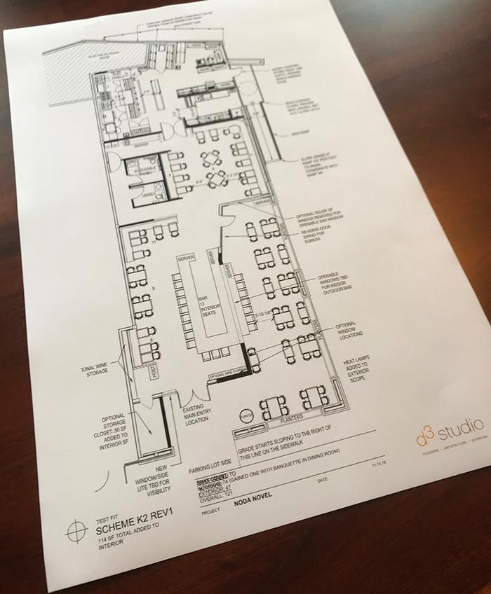 layout of orto italian restaurant