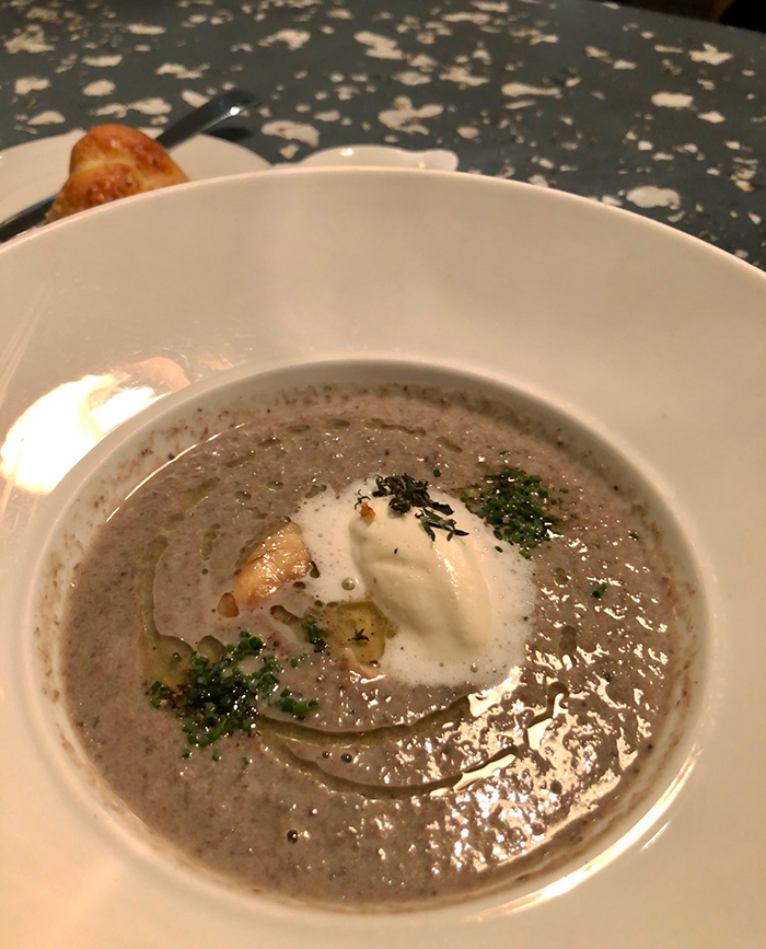 mushroom soup at barringtons charlotte