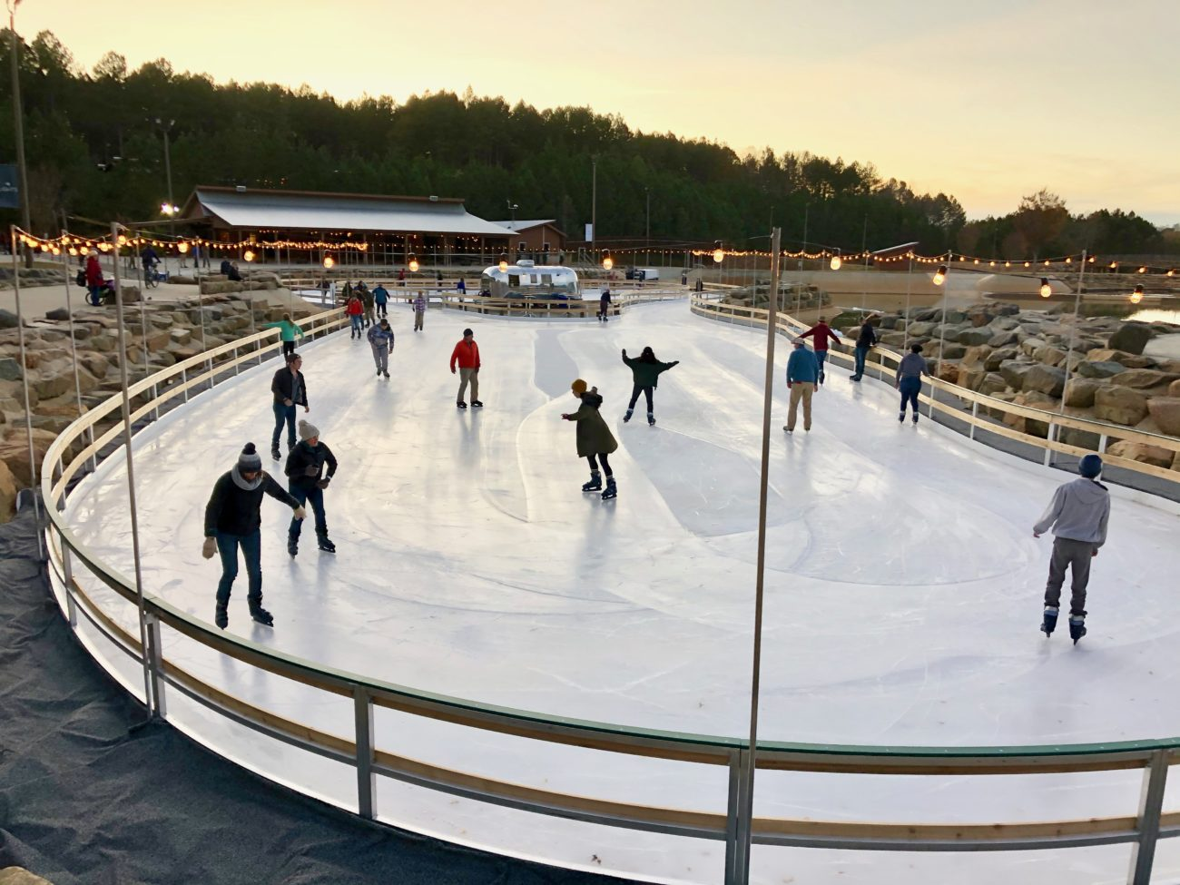 Ice skating open at the Whitewater Center — plus a half-mile illuminated walking trail
