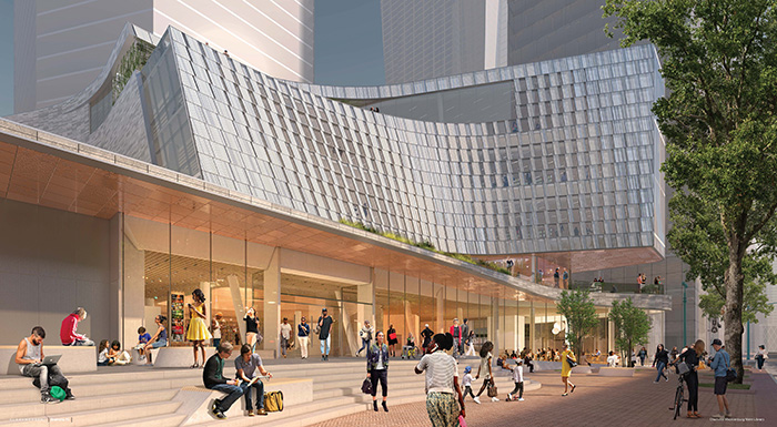 Rendering of the new uptown library