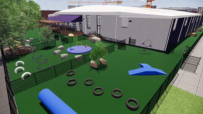 Skiptown private play area