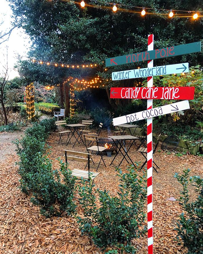 christmas decorations at mcgill rose garden