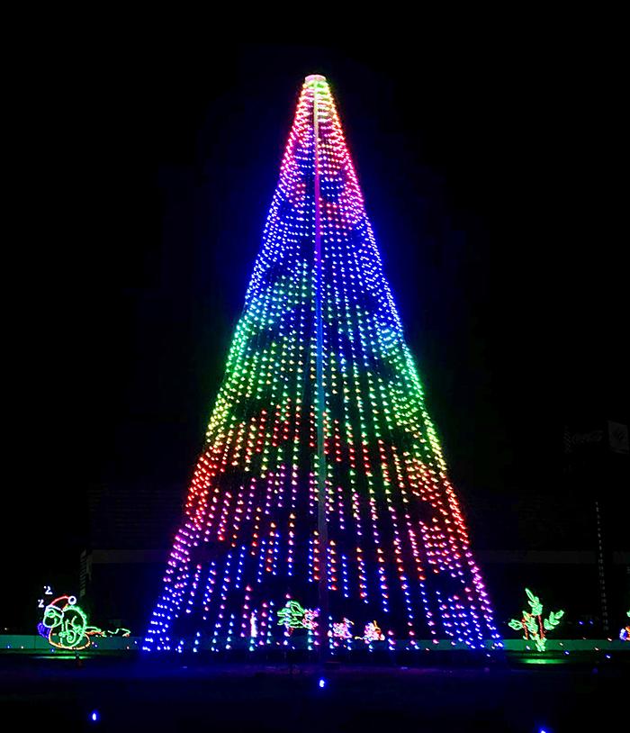 christmas tree at charlotte motor speedway