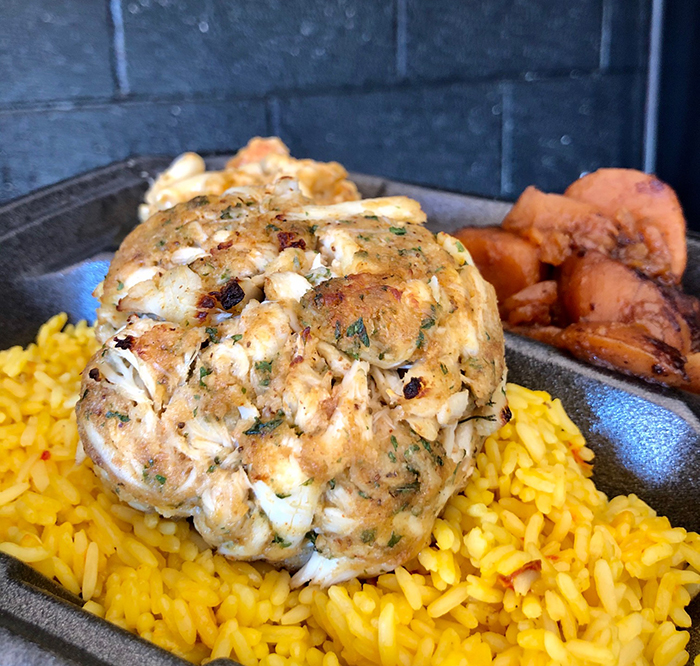 Crab cake at Lulu's chicken and seafood