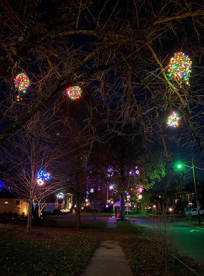hillside ave charlotte christmas lights