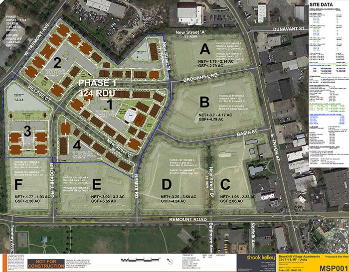 Brookhill Village site plan
