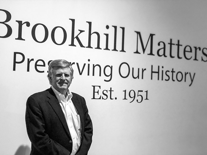 Tom Hendrickson at the Welcome to Brookhill exhibit