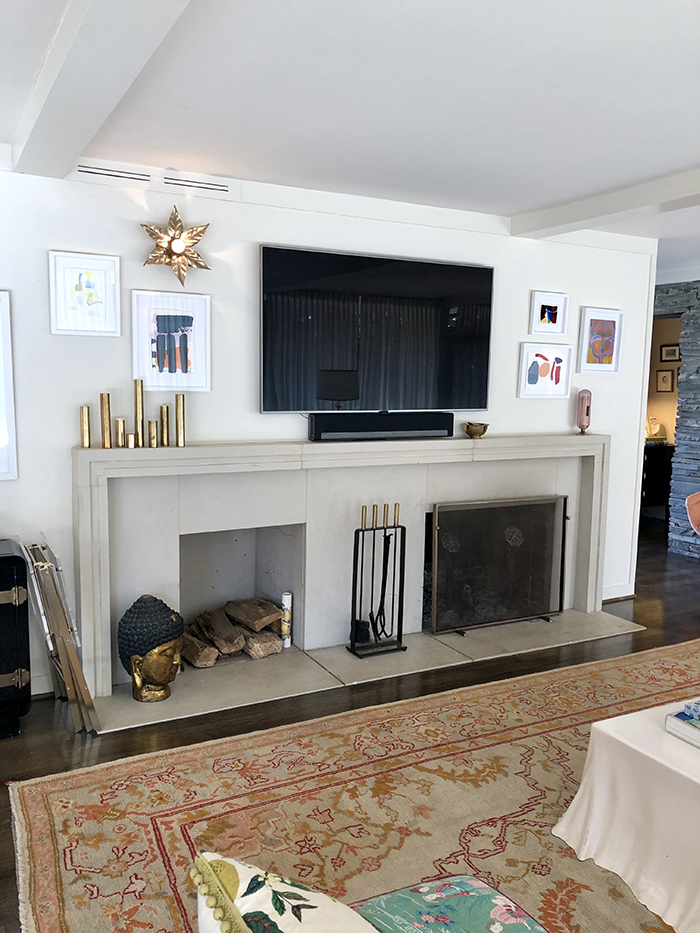 Charlotte Lucas Home Tour fireplace