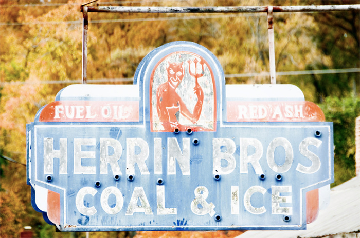Herrin Brothers sign in NoDa