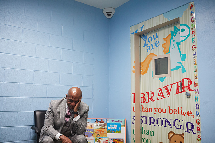 child-friendly visitation room at Mecklenburg County Jail