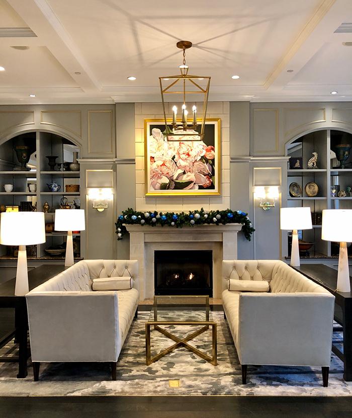lobby at the ballantyne hotel