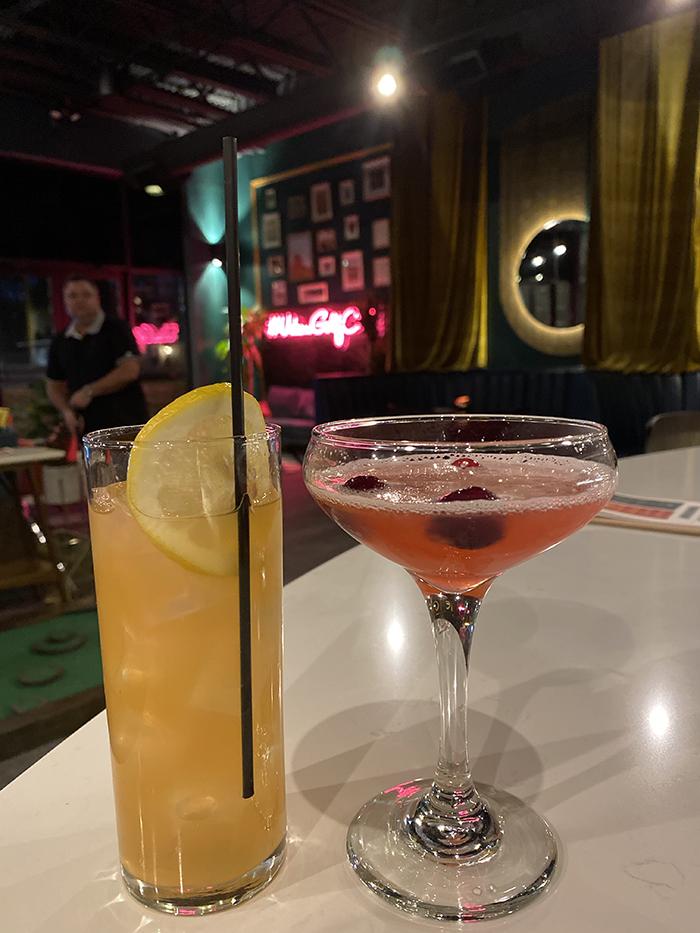 Stroke indoor mini golf now open in Plaza Midwood. Cocktails